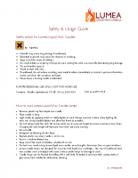 Lumea LWC safety & usage guide